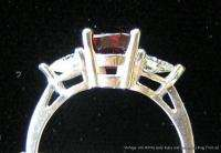 White Gold Ring 1.45 Carats Ruby .52cts Heart Shape Diamonds