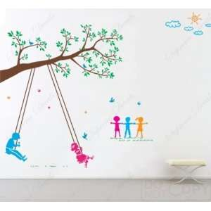 Play Swing  Vinyl Wall decals stickers art Playroom