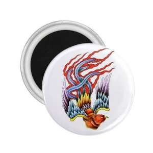 NEW Tattoo Phoenix Bird Fridge Souvenir Magnet 2.25 Free