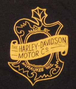 VTG 50s 60s Harley Davidson Motorcycle T Shirt Black L