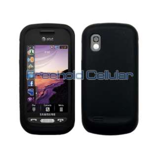 Blk Silicone Case+Car Charger for Samsung Solstice A887