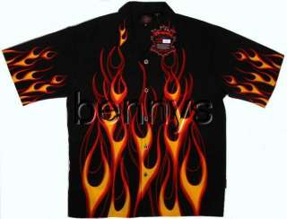 NEW Classic Flames Biker Hot Rod Shirt, Dragonfly, L