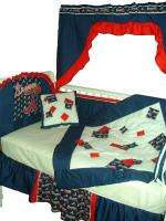 Baby Nursery Crib Bedding Set w/Atlanta Braves fabric