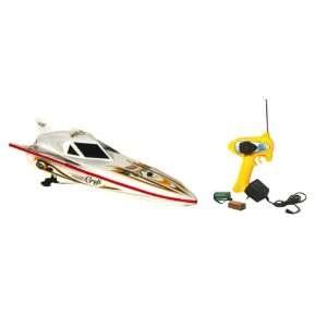 World Racing white Mini CYCLONE Racing Speed Boat 10