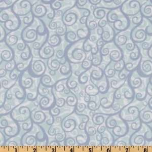 44 Wide Wild World Surf Cornflower Fabric By The Yard