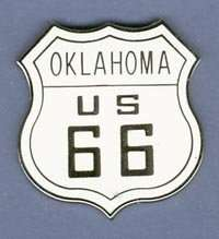 ROUTE 66 OKLAHOMA HAT PIN LAPEL TIE TAC BADGE #1479