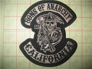 Sons Of Anarchy Biker Patch Iron On Crest SAMCRO SOA Reaper Outlaw MC