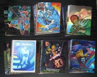 90s Marvel, Spider Man, X Men Insert Card Singles LOT 3