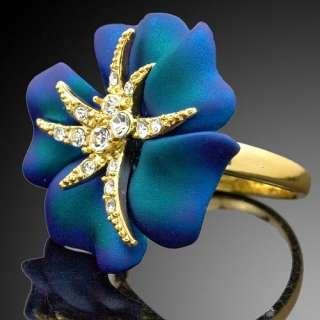 Rose Starfish Swarovski Crystal ARINNA Fashion GP Ring