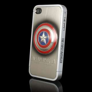 America Metal Skin Hard Case Cover for Apple iPhone 4 4G 4S New