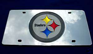 MIRROR) CAR LICENSE PLATE PITTSBURGH STEELERS FOOTBALL