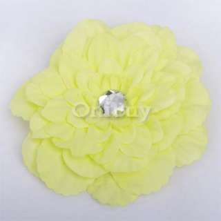 Lady/Baby Rhinestone Peony Flower Hair Clip Brooch Pin