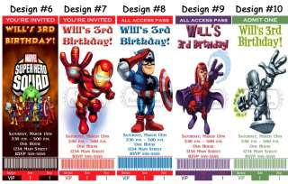 Super Hero Squad ~ Birthday Party Ticket Invitations, Supplies, Favors