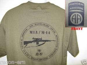 82ND AIRBORNE RANGER T SHIRT/ M14 M1A T SHIRT