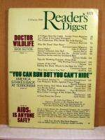 Readers Digest, February 1986 Star Wars, South Africa