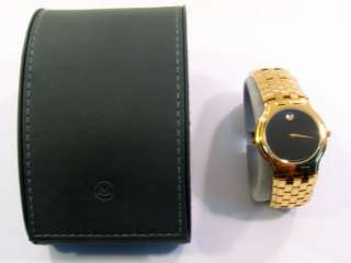 MOVADO MENS GOLD TONE WATCH 87.G2.1891 WITH BOX