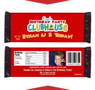 MICKEY MOUSE CLUBHOUSE Birthday Favors CANDY WRAPPERS