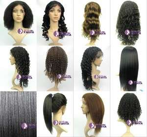 Lace Front WIG 100% Indian Remy Human Hair lace wigs 12   20 1B/30