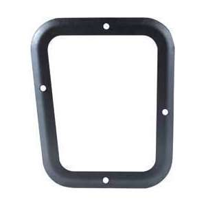 1967 68 4SPD SHIFT BOOT RETAINER PLATE BLACK Automotive