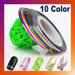 10xRolls Striping Tape Line Nail Art Decoration Sticker