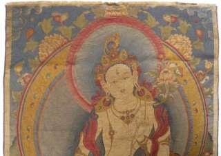 27 Tibet Silk Inwrought Kesi White Tara Thangka Tangka