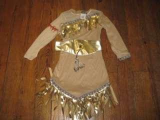 DISNEY PRINCESS DRESS UP CLOTHES POCAHANTAS SIZE 5 6