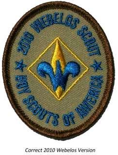 2010 Boy Cub Eagle Scout Webelos Error Rank Patch Badge