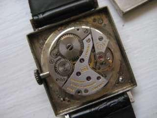 14k White Gold & Diamond Longines Wrist Watch 17 J Wind Up NICE