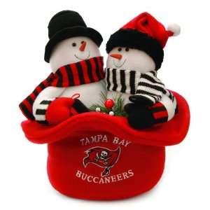 12 NFL Tampa Bay Buccaneers Snowmen Top Hat Table