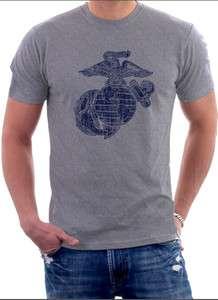 USMC Marine Corps Classic Eagle Globe & Anchor T Shirt S, M, L, XL