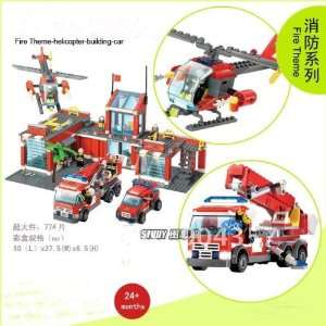 fireman educational plastic building blocks fire station: Toys & Games
