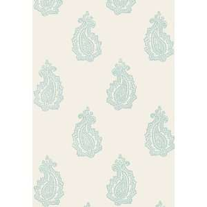 Madras Paisley Water Blue by F Schumacher Wallpaper Home Improvement