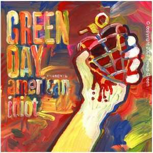 Green Day   American Idiot hand embellished digital print on canvas