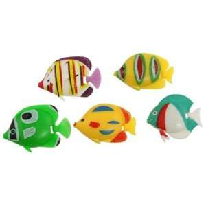 Como 5 Pcs Manmade Plastic Swimming Floating Fish for