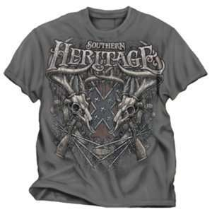 : Buck Wear Southern Heritage T shirt Charcoal 2x: Sports & Outdoors