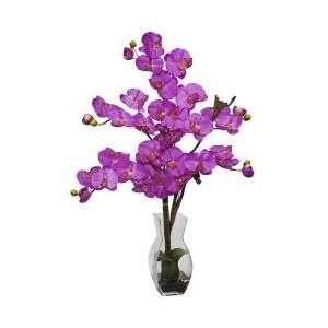 Phalaenopsis with Vase Silk Flower Arrangement   Nearly Natural   1191