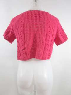 You are bidding on an AUDREY & GRACE Pink Short Sleeve Cable Knit