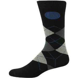 Chicago Cubs Black Argyle Dress Socks