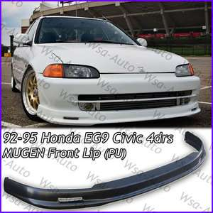 95 Honda Civic JDM MUGEN Front Bumper Lip Kit Sedan 4Drs EG9 PU