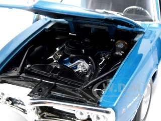 model of 1967 Pontiac Firebird Blue die cast car model By Welly