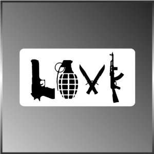 Weapons Guns Knives Rifles Pro Gun NRA Decal Bumper Sticker 3 X 6