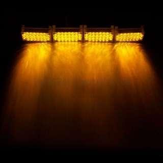 Amber 4x22 LED Flash Emergency Strobe Grill Light