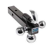 Towpower Chrome Towing Tri Ball Ball Mount with Tow Hook