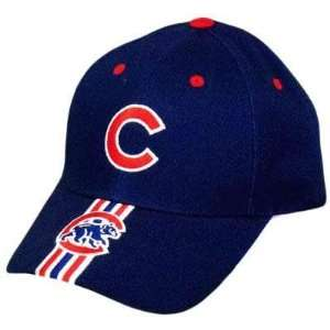 CHICAGO CUBS BLUE RED WHITE BASEBALL VELCRO HAT CAP