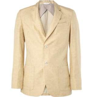 Blazers  Single breasted  Linen and Silk Blend Blazer