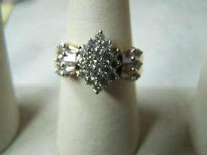 14K Gold Diamond Ring 1 1/2 Carats GORGEOUS RING