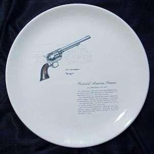 GUN COLT PEACEMAKER REVOLVER HISTORICAL AMERICAN FIREARMS PLATE