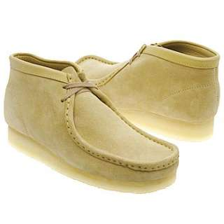 Mens Clarks Wallabee Boot Sand Suede Shoes
