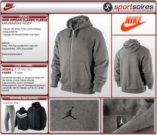 NIKE AIR JORDAN JUMPMAN CLASSIC FLEECE HOODY 383497 063