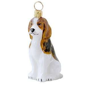 Beagle Blown Glass Christmas Ornament